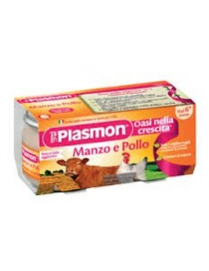 PLASMON MANZO POLLO 80GR 2PZ