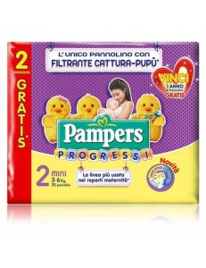 PAMPERS PROGRESSI MINI 3-6KG 30PZ