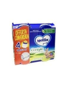 MELLIN CONIGLIO 4PZ 80GR OMOGENEIZZATO