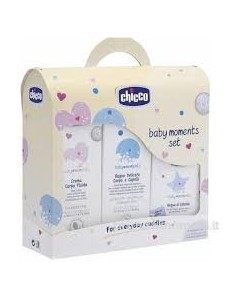 SET REGALO BABY MOMENTS S/PARABENI(BAGNO+CREMA+COLONIA)