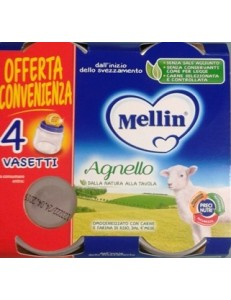 MELLIN AGNELLO 4PZ 80GR OMOGENEIZZATO