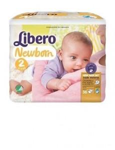 LIBERO 2 NEWBORN 3-6KG 36PZ PANNOLINI