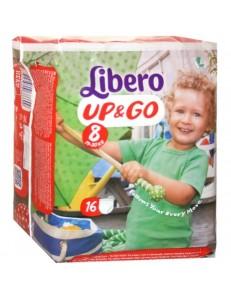 LIBERO UP&GO TG 8 KG 19-30 16 PZ