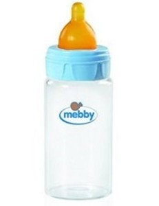 MEBBY BIBERON VETRO 270ML LATTICE BLU