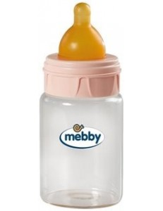 MEBBY BIBERON VETRO 180ML LATTICE ROSA