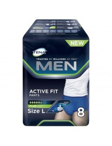 TENA MEN ACTIVE FIT PANTS PLUS TG.L PZ.8