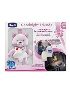 CHICCO MONITOR E PANNELLO GOODNIGHT FRIENDS BIMBA
