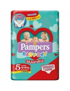 PAMPERS MUTANDINA B.DRY JUNIOR PZ.15
