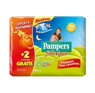 PAMPERS SOLE/LUNA DOPPIO 6 EXTRA LARGE 15-30KG 34PZ