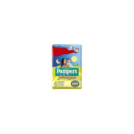 PAMPERS SOLE/LUNA TG.6 PANNOLINO EXTRALARGE 15/30 KG 14 PZ