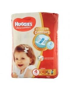 HUGGIES ULTRA COMFORT 4 TG.7-18KG PZ.18 UNISEX