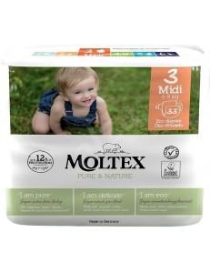 MOLTEX 3 MIDI 4-9KG 33PZ PURE & NATURE PANN.ECOLOGICO