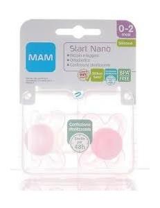 MAM 2 SUCCHIETTI START NANO SILICONE 0-2 MESI FEMMINA