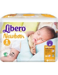 LIBERO 1 NEWBORN 2-5KG 28PZ PANNOLINI