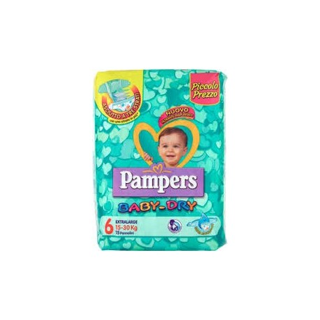 PAMPERS BABY DRY 15-30 EXTRALARGE