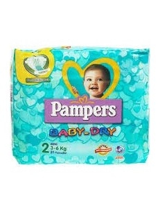 PAMPERS BABY DRY 3-6 KG MINI