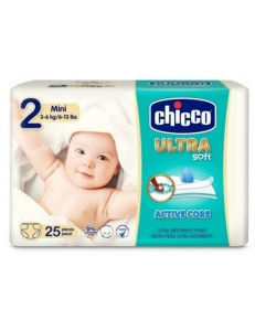 CHICCO ULTRA SOFT PANNOLINO TG.2 MINI 3-6KG 25PZ