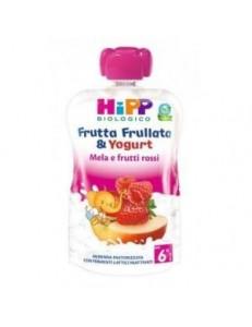 HIPP FRUTTA FRULLATA YOGURT MELA E FRUTTI ROSSI 90GR