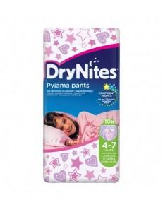 DRYNITES 4-7 ANNI GIRL 17-30KG PZ.10 PANNOLINO NOTTE HUGGIES