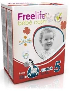 FREELIFE TG.5 JUNIOR 11-25KG 42PZ BY BEBE' CASH 500274500
