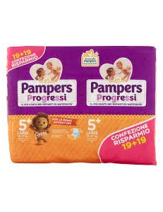 PAMPERS PROGRESSI DOPPIO 5+ LARGE 13-27KG 38PZ